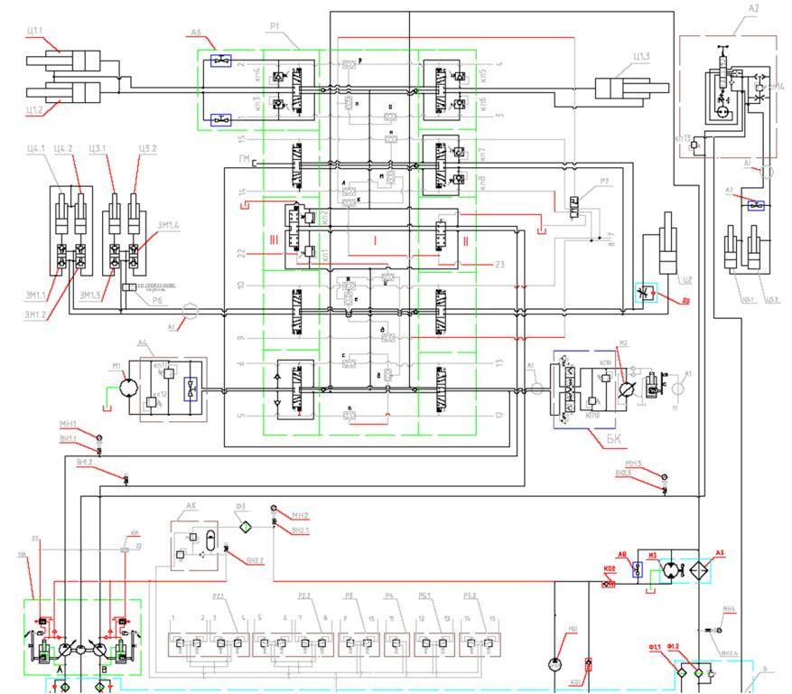 Гидравлическая схема ЕК